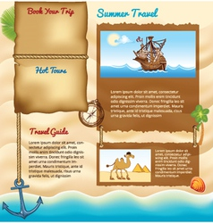 Background for travel website vector image