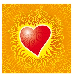 Flames heart vector