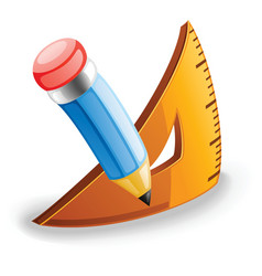 pencil and triangle vector image