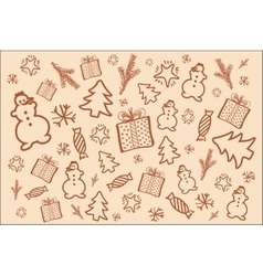 Winter background in brown tone vector