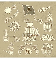 Pirates set vector