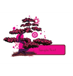japanese frame with tree vector image