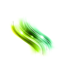 Abstract wave new green vector