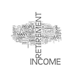 A fresh mindset on retirement income text word vector