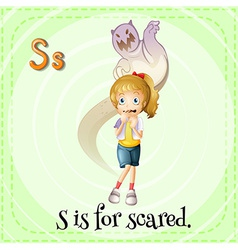 A letter s for scared vector