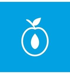 Apricot half icon white vector