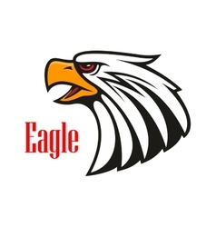 Bald eagle crying emblem vector