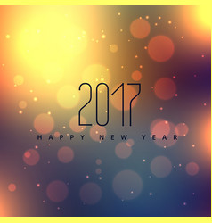 Bokeh background with 2017 new year vector