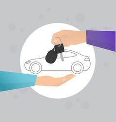 Car rental vector