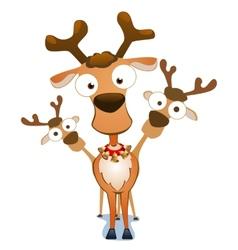 Christmas deers vector image vector image