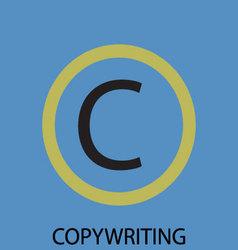 Copywriting icon flat design vector