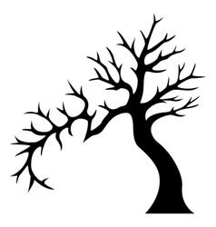 Decorative tree silhouette vector image