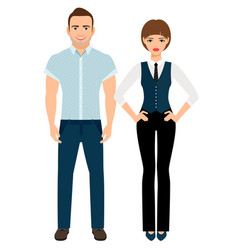 fashion elegant couple vector image