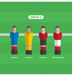 Football players group a vector