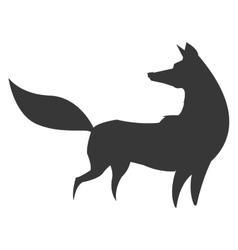 Fox silhouette icon vector