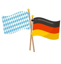 Germany and Bavaria flags icon vector image vector image