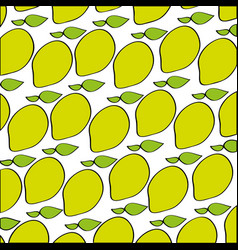 Mangos pattern fresh fruit drawing icon vector