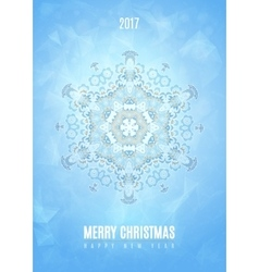 Modern Christmas fancy winter snowflake card vector image vector image