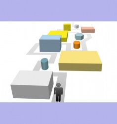 pathway vector image vector image