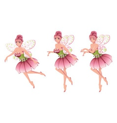 Pink Floral Fairy3 vector image vector image
