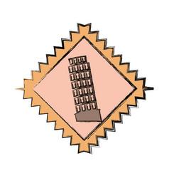 Pisa tower building vector
