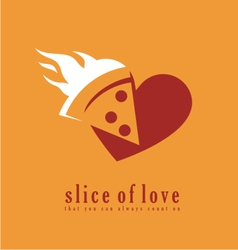 Pizza logo design template vector image