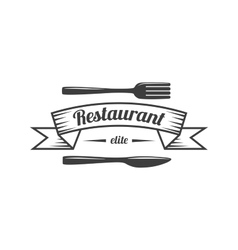 Restaurant Label Food Service Logo vector image