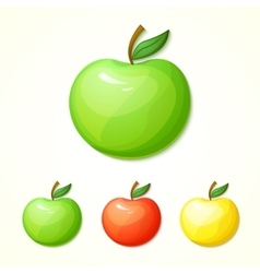 Set of different colors apples vector image