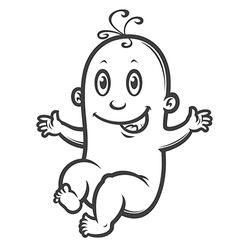 smiling baby vector image vector image