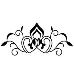 swirl line decoration vector image