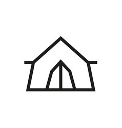 Tent icon on white background vector