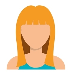 Young woman profile with blonde hair vector