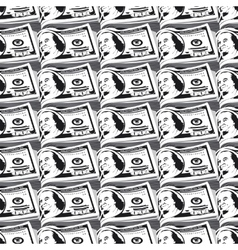 seamless pattern dollars vector image