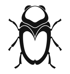 Scarab beetle icon simple style vector