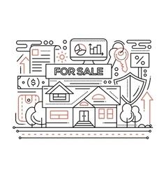 Real estate - line design composition vector