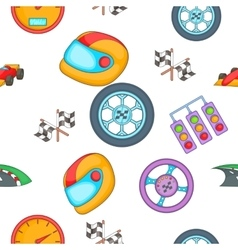 Race and awarding pattern cartoon style vector