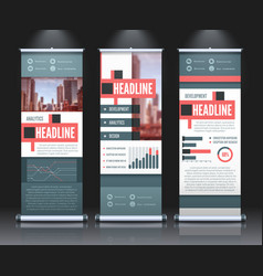 rollup infographic banners set vector image