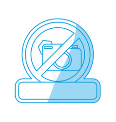Prohibited camera sign vector