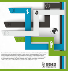 Numbered tabs business infographics vector