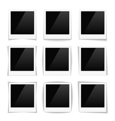 Striped Photo Frames vector image