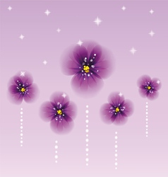 Pansy flowers vector