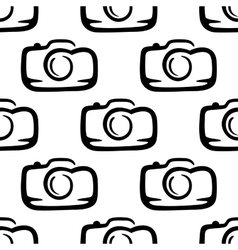 Seamless pattern of a compact camera vector