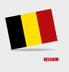 Belgium flags concept design vector