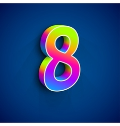 3d Number Eight vector image
