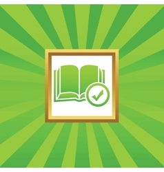 Select book picture icon vector