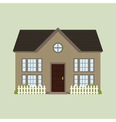 Old house building vector