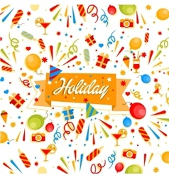 Holiday banner vector