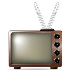 retro tv with antenna vector image