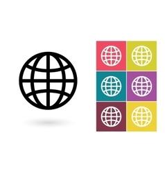 Globe symbol or globe pictogram vector image