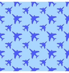 Airplane Silhouette Seamless Pattern vector image vector image